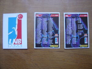 1995 Carte Basketball Panini LNB Carte de France Check List FFBB Basket