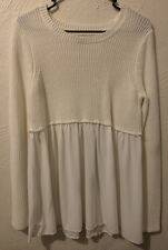 Self Esteem - White/Cream Knit Top - Women's Size Large
