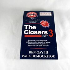 The Closers Part 3 Book Become a Sales Infiltrator Ben Gay III Paul Democrotou