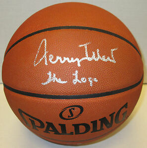 """Lakers JERRY WEST Signed Spalding Authentic Basketball AUTO w/ """"The Logo"""" - JSA"""