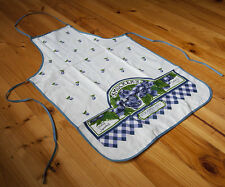 Vintage Country Style Pure Cotton Printed Blue Berry Kitchen BBQ Bib Apron