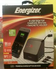 Energizer 6 USB Desktop Charging Station + Magnetic Holder *Read Details*