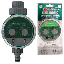 AUTOMATIC GARDEN WATER IRRIGATION TIMER ELECTRONIC SYSTEM FITS HOZE LOCK 2DIAL