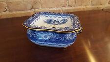 Doulton Watteau Flow Blue Soap Dish