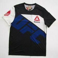 Men's Reebok Ufc Fight For Peace Jersey, New Blk Blue White Sport Shirt Sz L