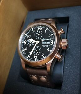 Ingersoll Armstrong I02201 Gold Coloured Automatic multifunction Watch