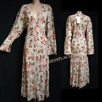 ZARA Printed Midi/Maxi Dress Sizes S-M-L *BNWT RRP;£60 Cream Floral BOHO
