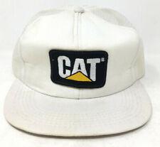 Vintage CAT Hat Snapback Patch Trucker Mesh Tonkin USA
