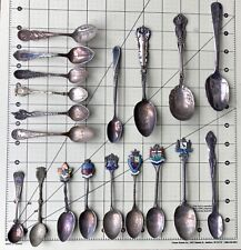(19) Antique Sterling Silver / Silverplate / Other - Collectible Spoons