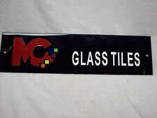 MC Glass Tile Display Sign Plexiglas