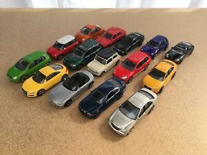 15 x Toy cars job lot Welly Realtoy Etc Mercedes Audi VW Mini Porsche BMW etc