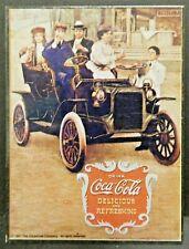 "Dollhouse Miniatures Metal Sign Advertising Coke Auto COCA COLA 2 1/4"" x 3 1/8"""