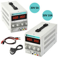 30V 10A/5A DC Power Supply Adjustable Variable Dual LED Display Digital Lab Test