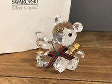Swarovski Figurine Kris Ours,Feiernder Ours 4 Cm. avec Ovp & Certificat Haut