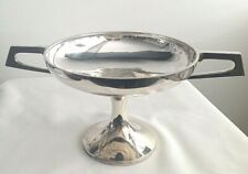 Antique silver plated Art Deco Tazza bowl dish Walker & Hall