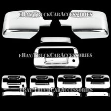 For FORD F-150 F150 2004-2008 Chrome Covers Set 4 Door Handles+Mirrors+Tailgate