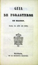Spain: Guia de forasteros en Madrid, para el ano de 1853 [with] Estado Militar