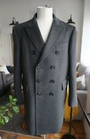 Mens Authentic Burberry Wool Cashmere Double Breasted Coat Size 54 - L