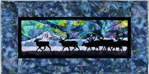 Wildfire Designs Alaska Aurora Nights Across the Flats Applique Quilt Pattern