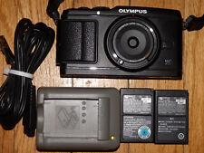 Olympus Pen E-P3 12.3MP Micro Four Thirds Camera W/ 15mm BCL-1580  Body Cap Lens