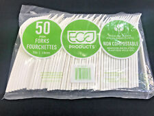 "Eco-Products Plant Starch Renewable 7"" Forks, Cream, 50/Pk Parties/Restaurant"