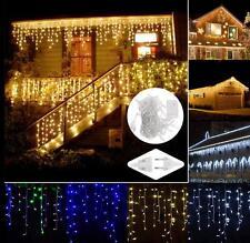 4/5x LED Lichtkette Vorhang Eiszapfen String Lichter Beleuchtung Lampionkette
