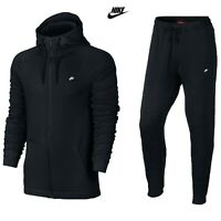 Men's Nike Modern Tracksuit Set Full Zip Hoodie Joggers Bottoms Black S M L XL