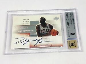 2003-04 Ultimate Collection Signatures MICHAEL JORDAN BGS 9, Auto 10!!