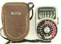 Vintage Weston Master IV Light Exposure Meter 745 Leather Case Parts/Repair