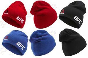 Reebok UFC Fan Lightweight Blue/Black/Red Sport Training Fitness Beanie Hat *NEW