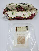 2006 Longaberger Holiday Helper Loaf/Small Basket POINSETTIA Liner Botanical