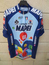 Maillot cycliste MAPEI GB vintage 1996 ROMINGER STEELS MUSEEUW shirt trikot XXL