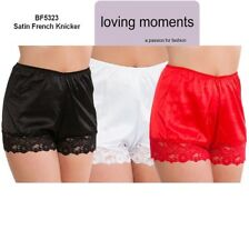 "Made In""UK""Beautiful Satin Style Lace French knickers Size10>To>26 Colour Choice"