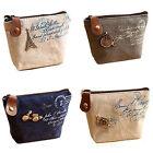 Fashion Women Girl Retro Zipper Cosmetic Coin Bag Purse Wallet Card Case Handbag