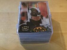 Topps BATMAN RETURNS COLLECTORS CARDS SET of 100 Cards. In Plastic Box.