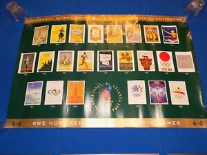 1996 Atlanta 100 Years of Olympic Games Posters Seoul Tokyo Rome Mexico Moscow