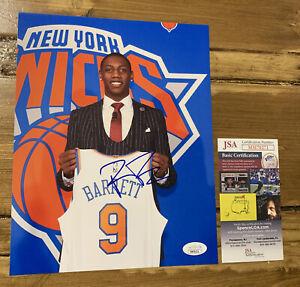RJ BARRETT Signed 8x10 Photo NEW YORK KNICKS ROOKIE JSA COA AUTHENTIC AUTO