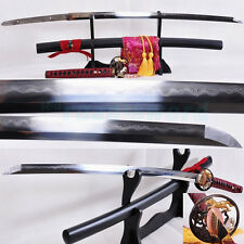 Clay Tempered Folded Steel Blade Horse Tsuba Japanese Samurai Sword Katana SHARP