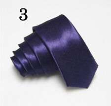 Skinny Tie * New Mens Solid Colors Suit Neckties* 2 inch Slim Tie**Free Shipping