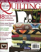 McCall's Quilting Magazine 18 Patterns Autumn Ensemble Simple Triangles Wool