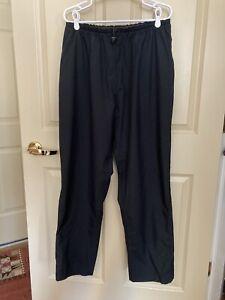 FOOTJOY DRYJOYS Men's Elastic Waist Drawstring Outerwear Pants - Size L - Black