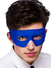 Masquerade Masked Ball Blue Eye Mask Superhero Fancy Dress Bananaman Halloween