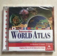 Interactive World Atlas- Cd Rom for Windows 3.1 & Windows 95 Disc Only #76A