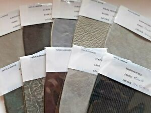 ****LOVELY QUALITY GREY ELBOW /KNEE PATCHES IN  ASSORTED FABRICS****
