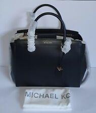Authentic Michael Kors Black Extra Large Benning Leather Satchel 30T8GN4S4L