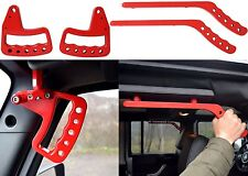 Upgraded Red Front & Rear Grab Bar Handles 2007-2017 Jeep Wrangler JK New USA