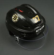Boston Bruins Patrice Bergeron Game Used NHL Helmet 2015 Season & Winter Classic