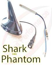 AM/FM aktiv Shark Dach Antenne schwarz 12V RAKU 2 Anschluss+ Phantomeinspeisun