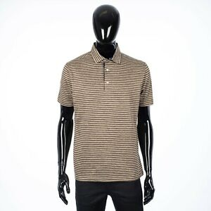 LORO PIANA 625$ 'Lindeman' Polo Shirt In Multi Color Striped Linen Jersey