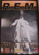 R.E.M. REM genuine record company poster Monster & Discography large